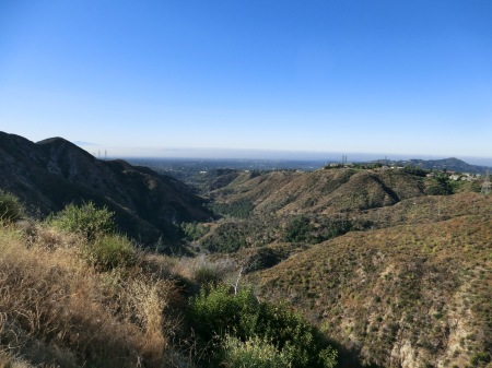 View of LA coming down from Mnt Wislon